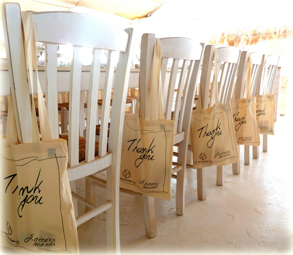 spetses wedding chair deco