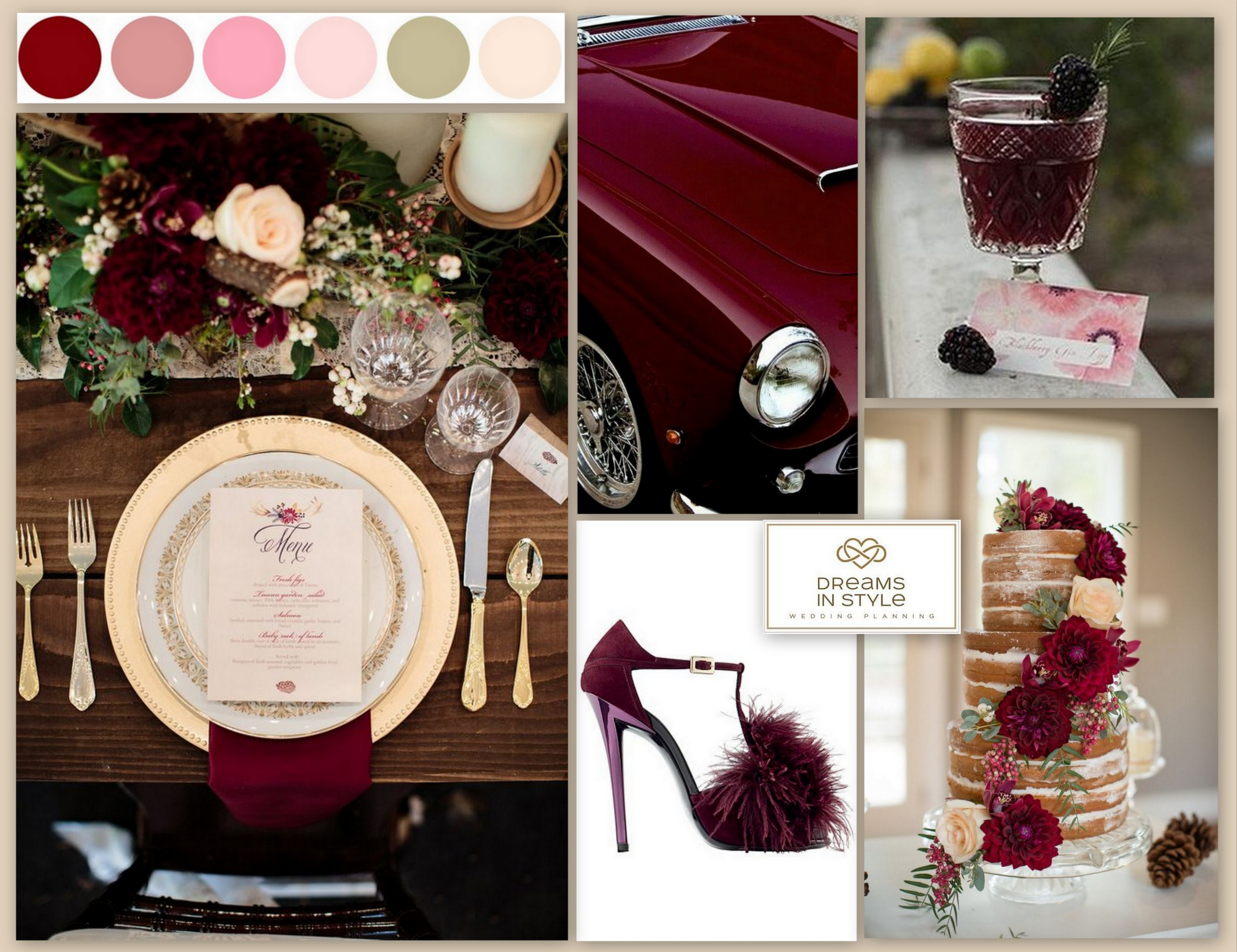 Shades of Burgundy & Pink - Dreams In Style